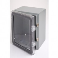 Clear Cover Hinged Steel Enclosure 10 x 8 x 6