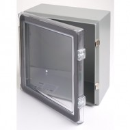 Clear Cover Hinged Steel Enclosure 12 x 12 x 6