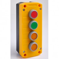 Remote Control Station with Red, Green, Yellow and Yellow Pushbuttons