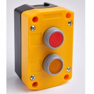 Remote Control Station with Red and Yellow Pushbuttons