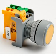 Pushbutton Momentary Switch 22mm Yellow with LED Lamp