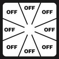 Label with OFF For LBL0005