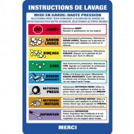 Wash Bay Menu Instruction Sign (french)