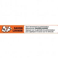 Instruction strip SAVON/LAVAGE (french)