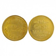 Token 0.985 85/15 No Cash Value/Car Wash Token with Car Image